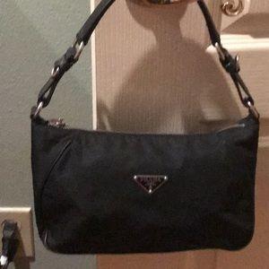 Authentic Prada Tessuto Vitello Shoulder Bag